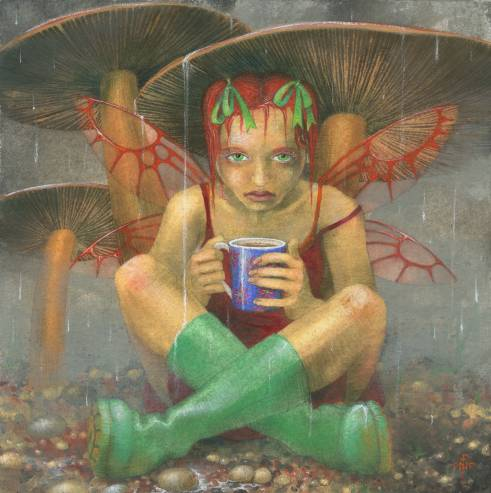 Bank Holiday Fairy: painting and artwork by Nancy Farmer