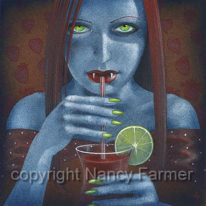 Bloody Mary: painting and artwork by Nancy Farmer