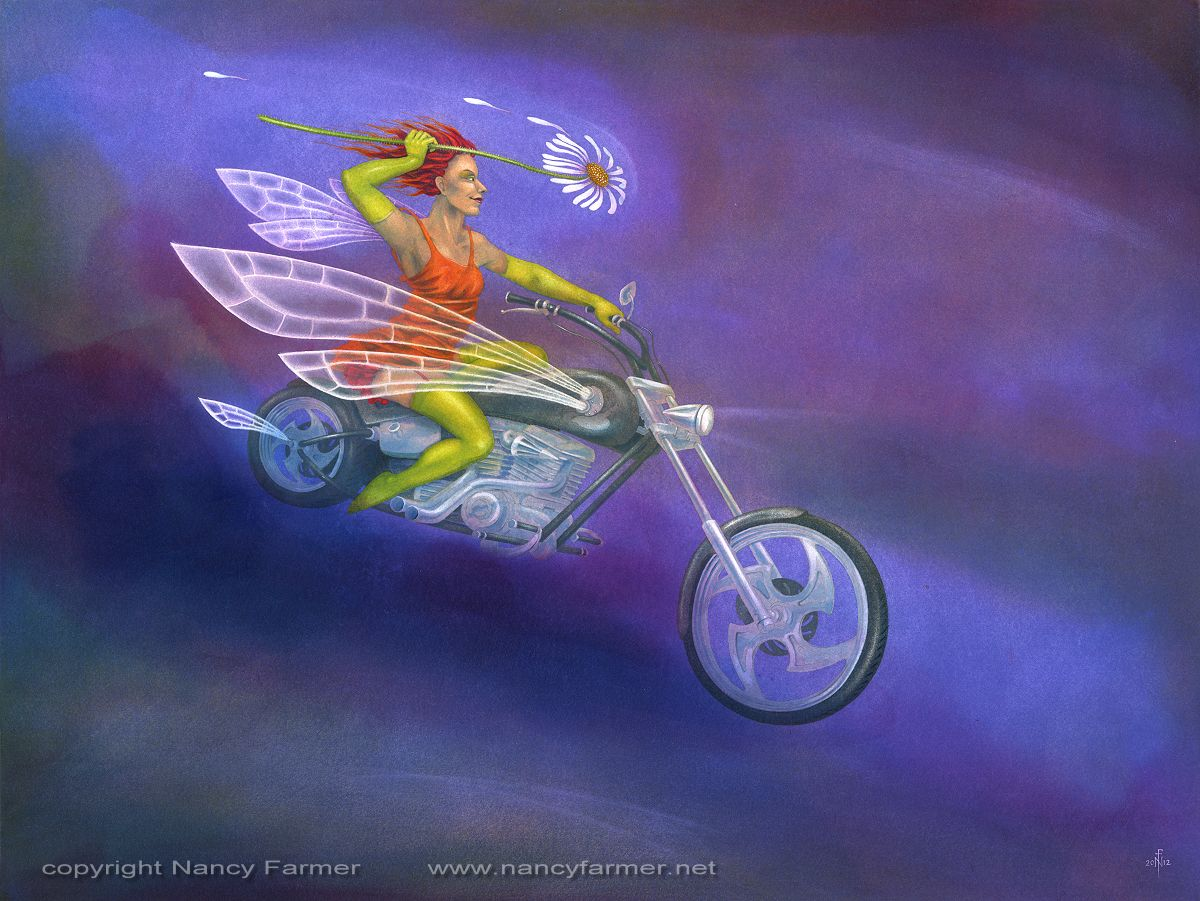 'Daisy Chopper' - painting by Nancy Farmer