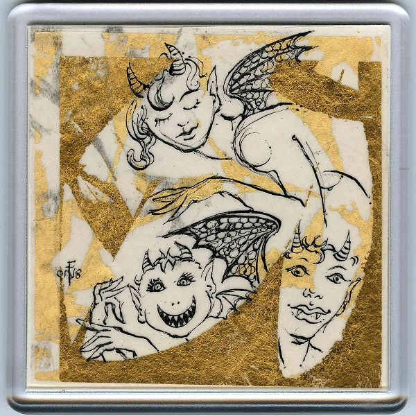 Demons in a Coaster 16 - art under your coffee