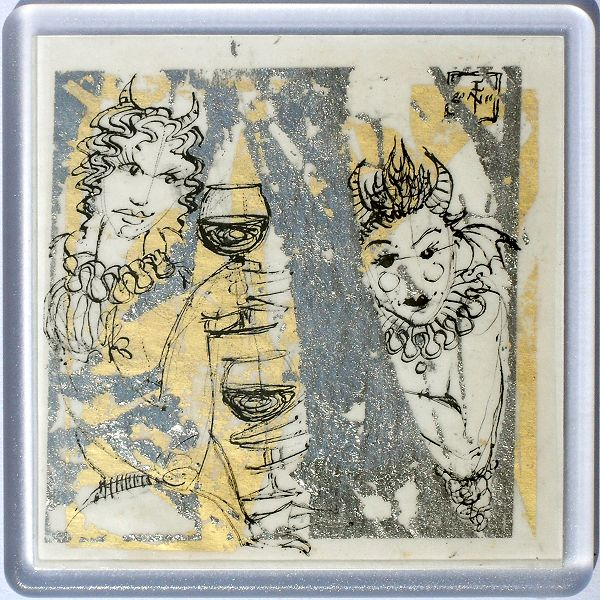 Demons in a Coaster 50 - art under your coffee