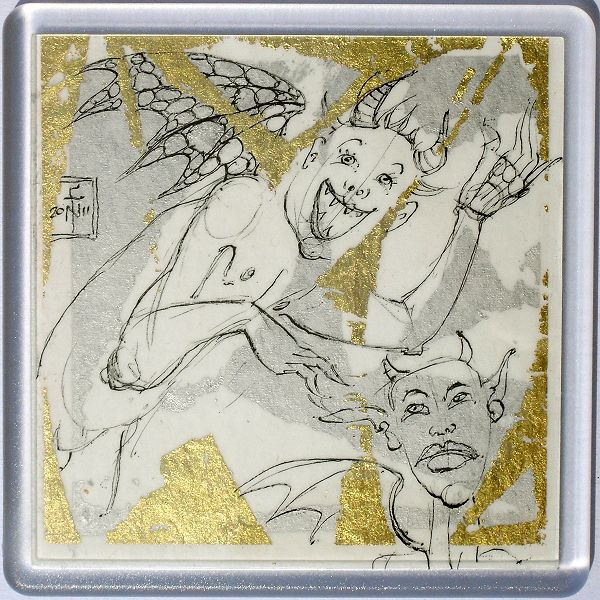 Demons in a Coaster 57 - art under your coffee