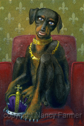 The Dog King - painting and artwork by Nancy Farmer