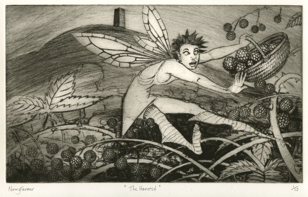 'The Harvest' - Drypoint