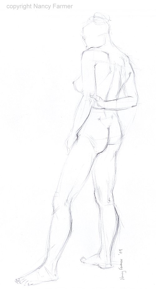 Life Drawing Sketch 2009-48 by Nancy Farmer
