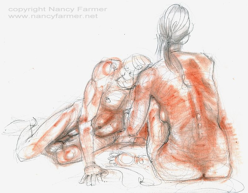 Life Drawing 2010-8 by Nancy Farmer