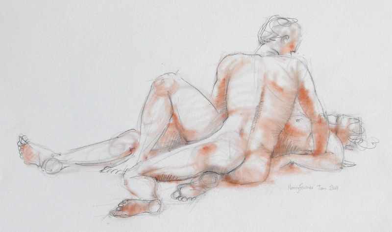 Life Drawing Sketch 2011-5 by Nancy Farmer