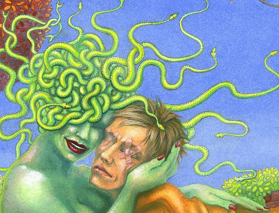 Medusa and Oedipus - close-up