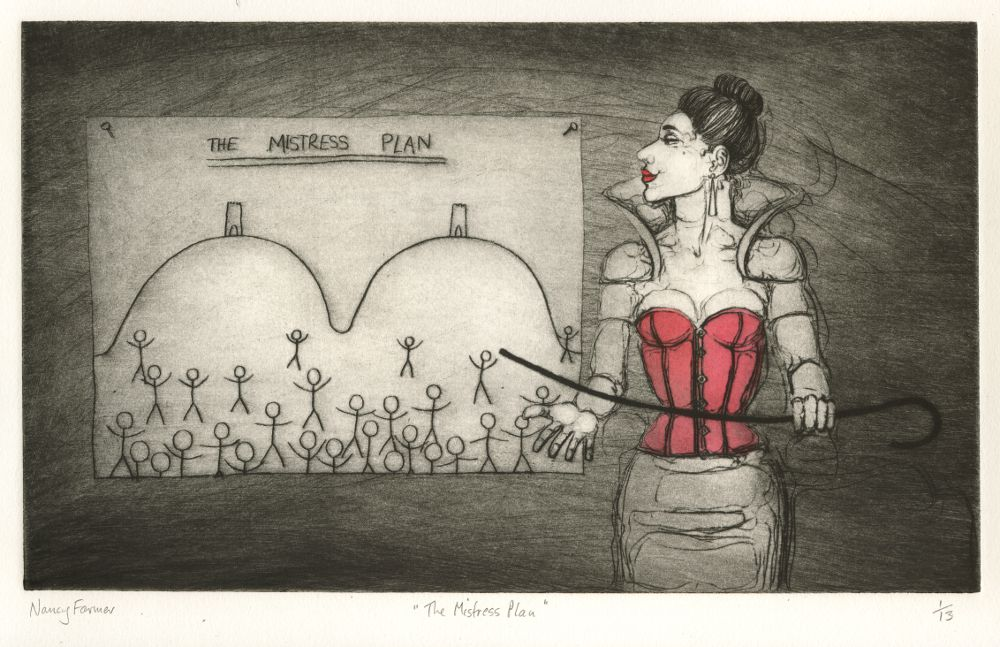 'The Mistress Plan' - Drypoint