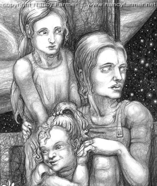 Illustration for Murky Depths: 'Growing Roses on Europa' - detail