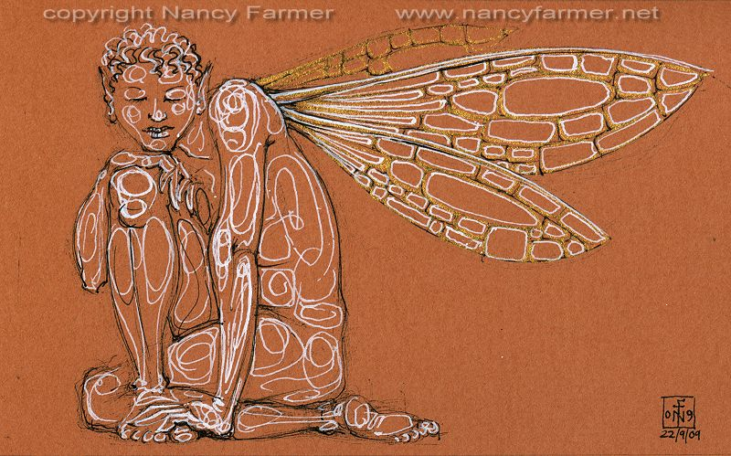 Permanent Sketch 67: Tranquil Fairy - drawing by nancy Farmer