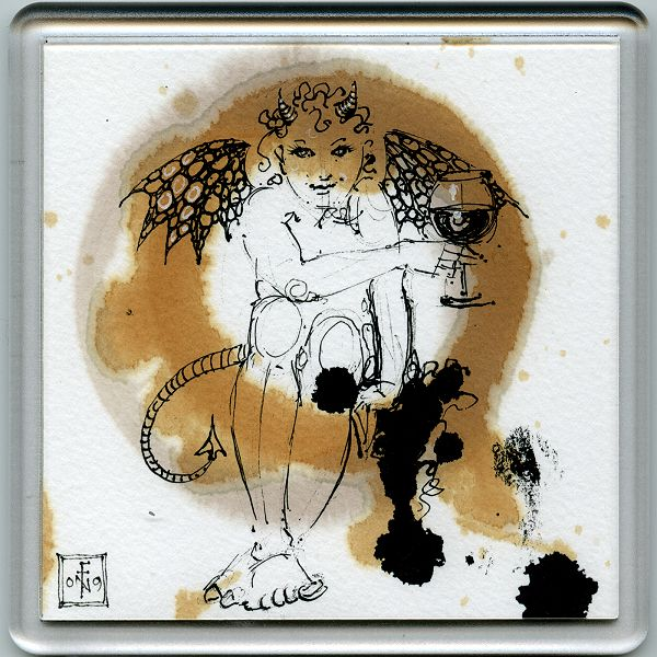 Stain Devil Coaster 18 - art under your coffee