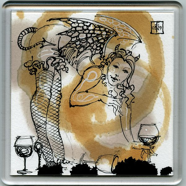 Stain Devil Coaster 19 - art under your coffee