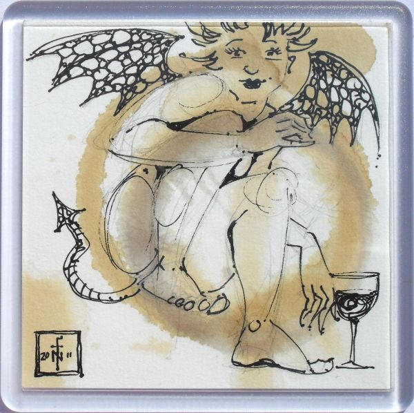 Stain Devil Coaster 116 - art under your coffee