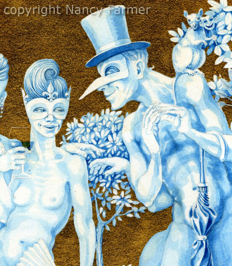 'The Naked Masquerade' - close-up detail2