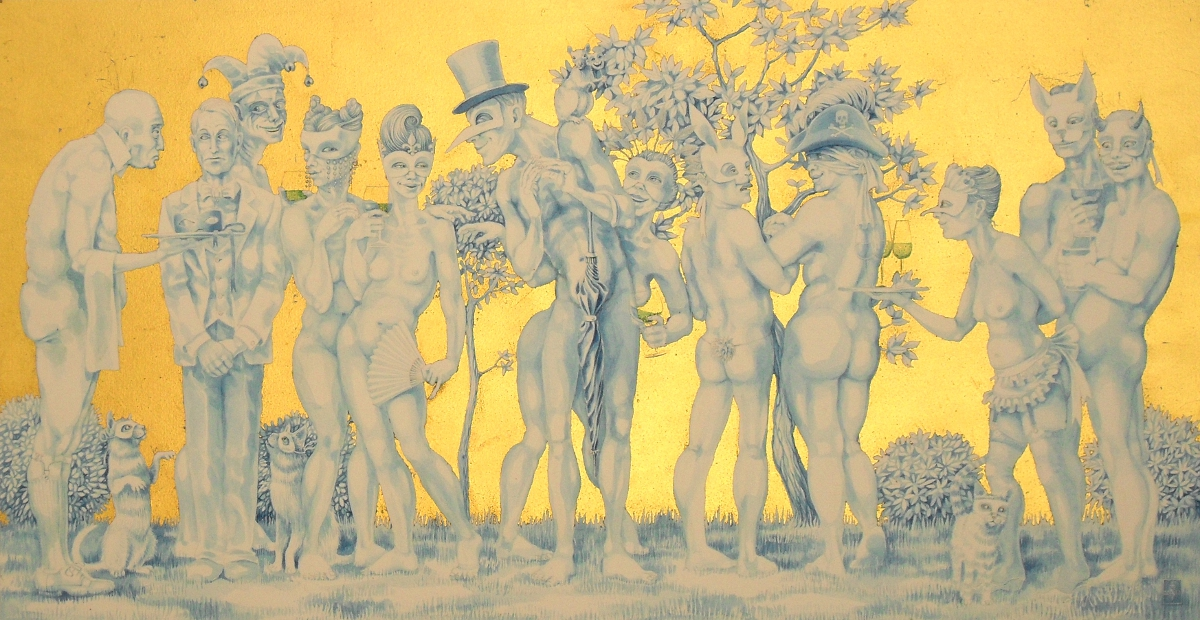 'The Naked Masquerade' - photograph of the painting