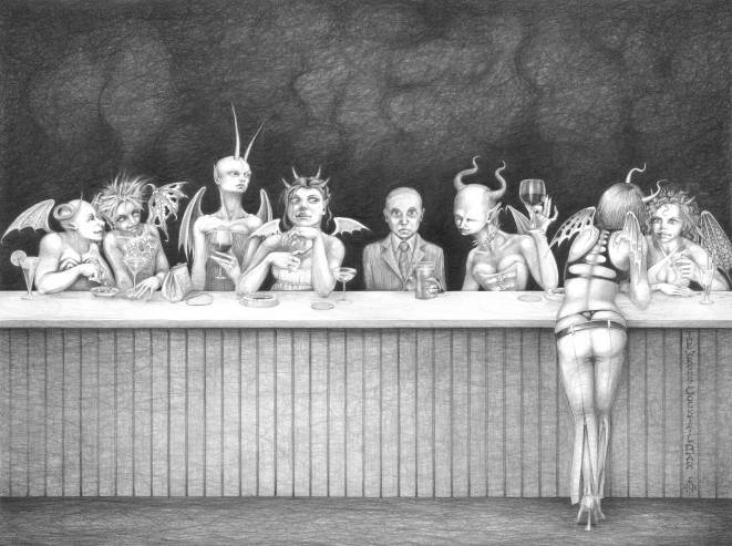 The Wrong Cocktail Bar - whole drawing