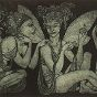 another etching: Fairy Gossip